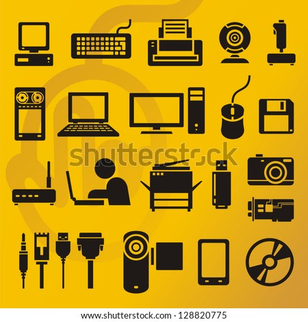 Computer icons collection - stock vector