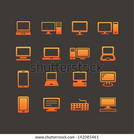 Computer icons for web and app
