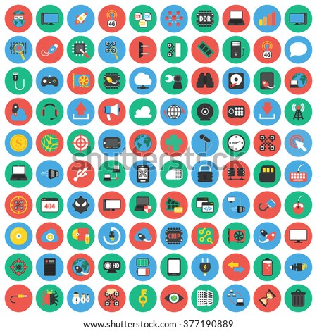 Computer icons set. Computer icons flat. Computer icons. Computer set app. Computer set vector. Computer set eps. Computer icons UI. Computer icons sign. Computer icons art. Computer set. Computer.  - stock vector