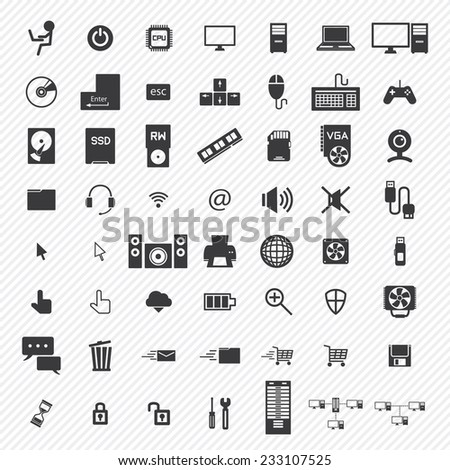 computer icons set. illustration eps10 - stock vector