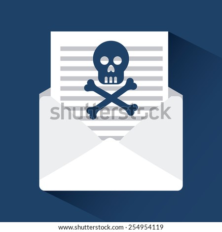 computer infection design, vector illustration eps10 graphic  - stock vector