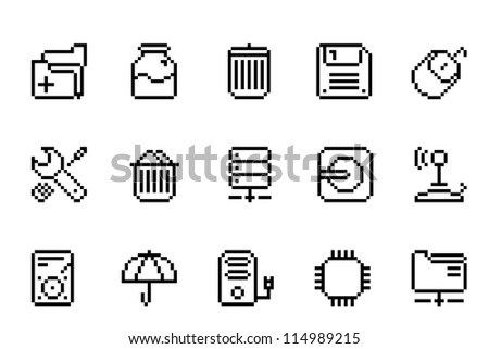 Computer Items Icons - stock vector