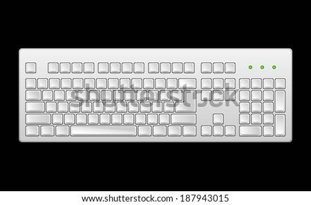 Computer keyboard. - stock vector