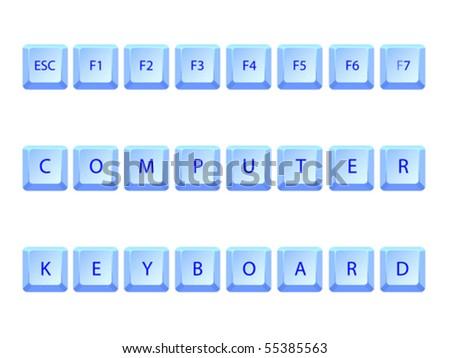 computer keyboard abstract concept, vector art illustration - stock vector