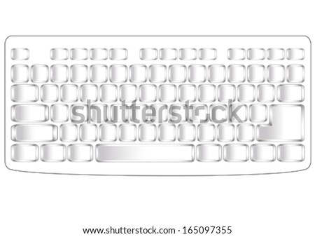 Computer keyboard keys on a white background - stock vector