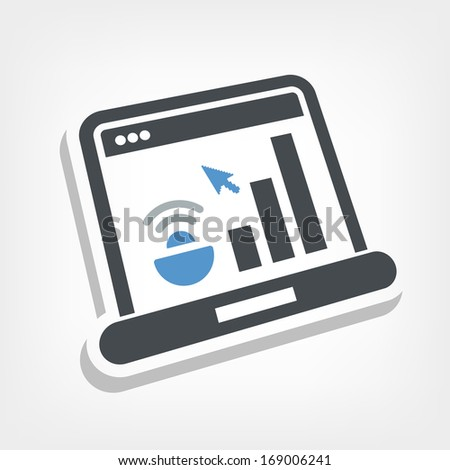 Computer levels icon - stock vector