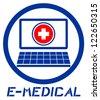 Computer medical symbol - stock photo