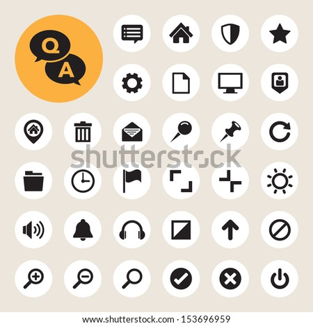 Computer menu icons set. Illustration eps 10