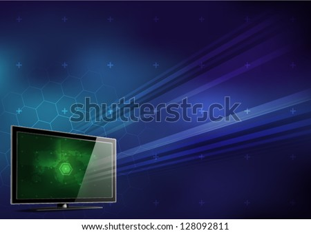 computer monitor background - stock vector