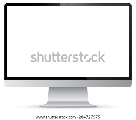 Computer Monitor Vector illustration. - stock vector