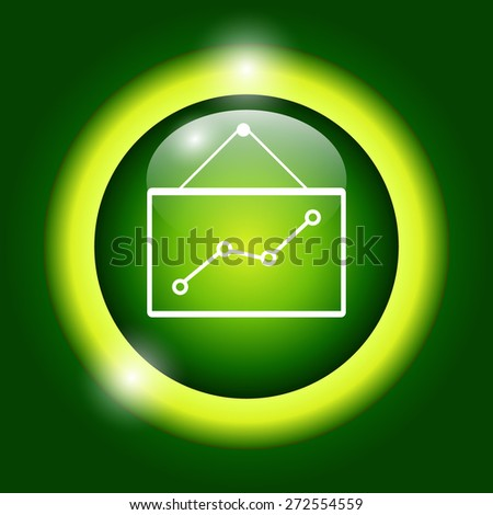 Computer monitors with different graphs, vector eps10 illustration - stock vector