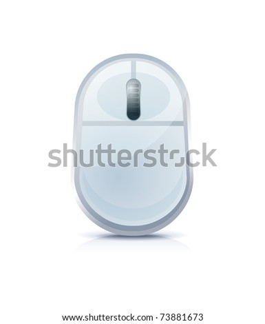 Computer mouse icon on white