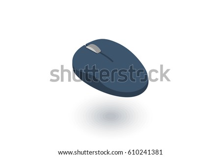 computer mouse isometric flat icon. 3d vector colorful illustration. Pictogram isolated on white background