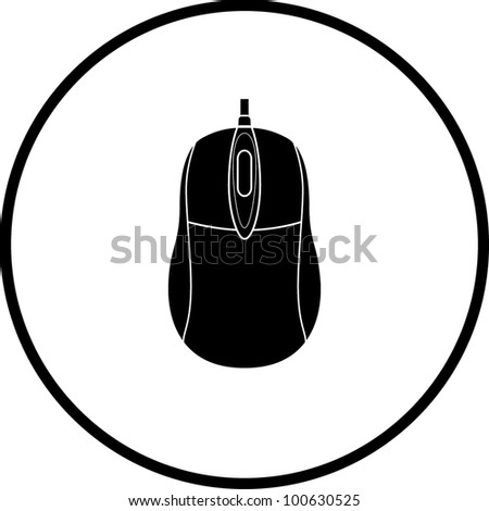 computer mouse symbol - stock vector
