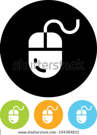 Computer mouse - Vector icon isolated - stock vector