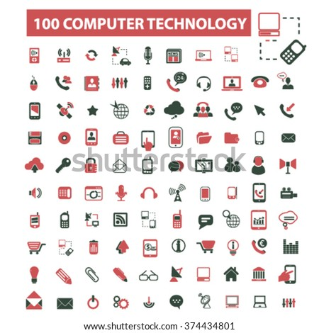 computer network, connection, hosting, database, pc  icons, signs vector concept set for infographics, mobile, website, application  - stock vector