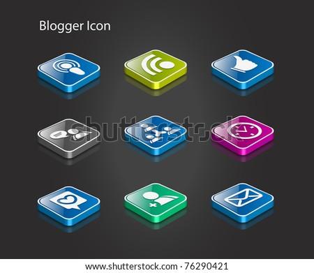 Computer network icon set - vector illustration. - stock vector