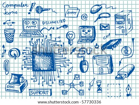 computer object - stock vector
