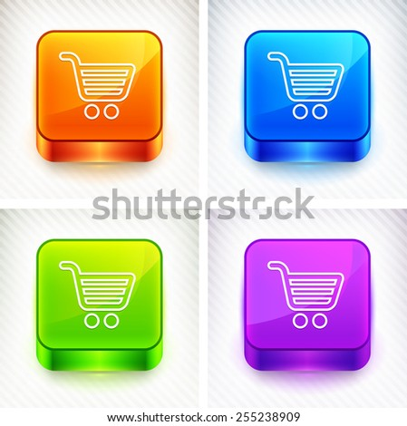 Computer Options Shopping Cart on Color Square Buttons