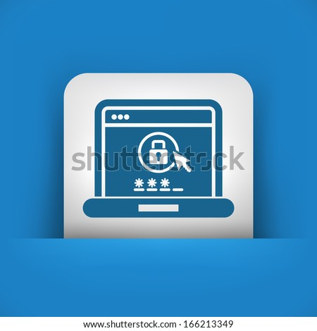 Computer password - stock vector