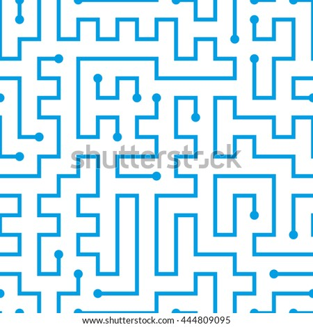 Computer processor seamless pattern/ Labyrinth seamless pattern