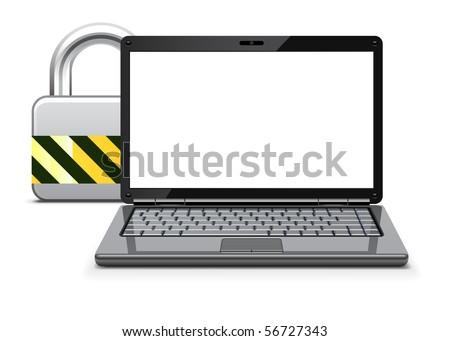 Computer security concept - stock vector