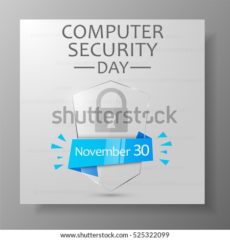 Computer Security Day banner. Vector illustration