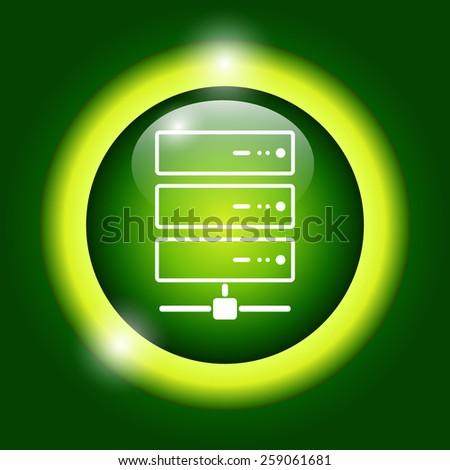 Computer Server icon, flat design. Vector EPS 10 - stock vector