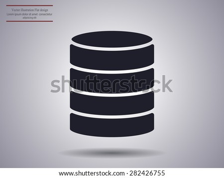 Computer Server . vector icon  - stock vector