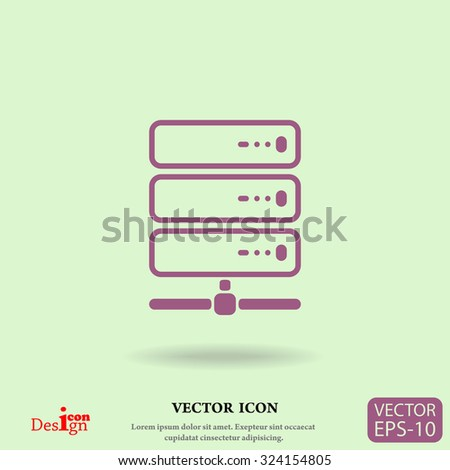 computer server vector icon - stock vector