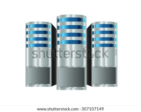 computer servers - stock vector