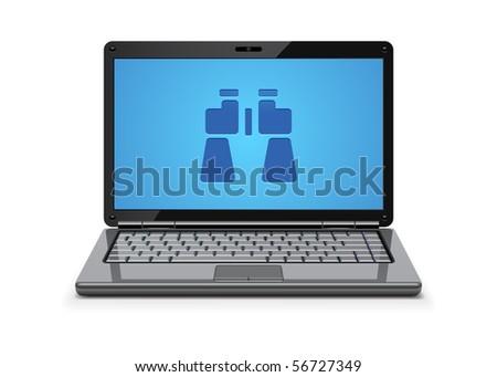 Computer surveillance  concept - stock vector