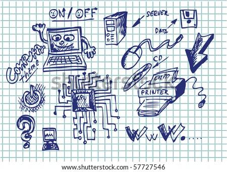 computer symbols - stock vector