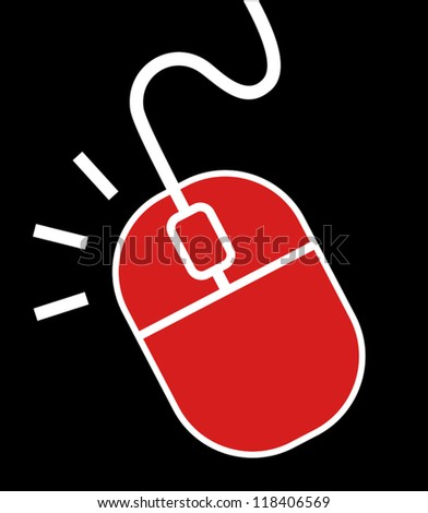 Computer tech mouse - stock vector