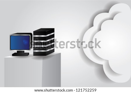 Computer & technology concept,for text,Vector