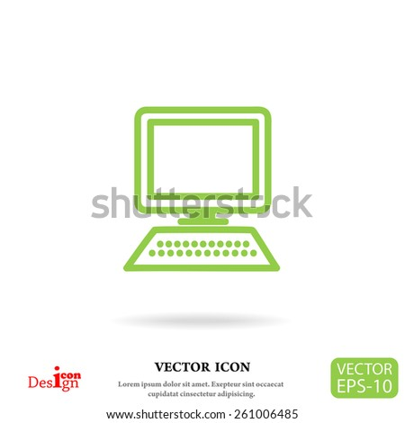 computer vector icon - stock vector