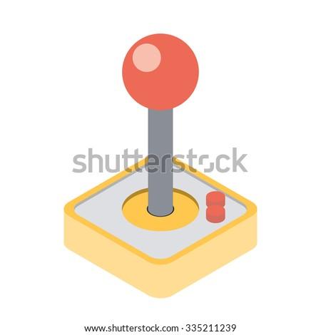 Computer Video Game Joystick. Vector illustration - stock vector