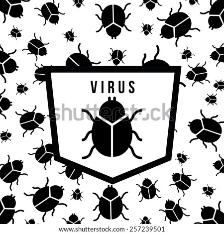 computer virus design, vector illustration eps10 graphic  - stock vector