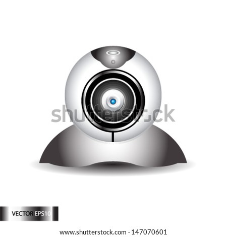 Computer Web Camera. Internet video conference - stock vector