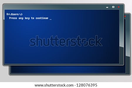 Computer windows - stock vector