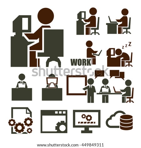 Office Jobs Occupations Careers Staff Employee Stock ...