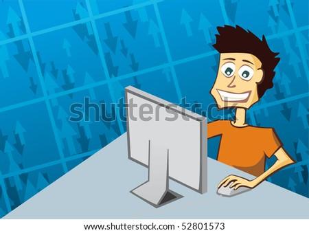 computing - stock vector