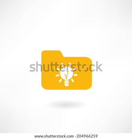 computing to the folder and the idea - stock vector