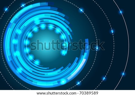 concentric abstract background - stock vector