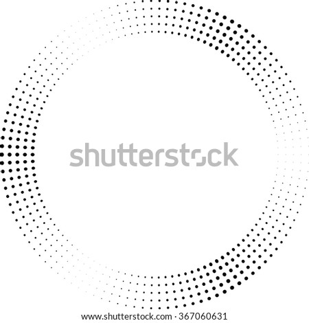 Concentric Circles . Dots in Circular Form . Vector. - stock vector