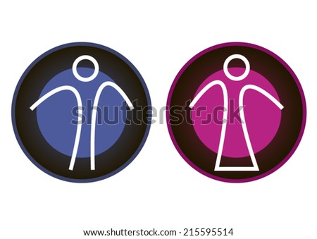 Concept Creative Male Female Symbols Signs Stock Vector Royalty