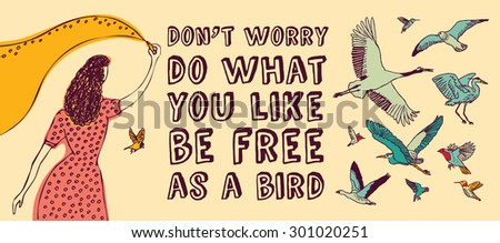 Concept banner about freedom creative. Color vector illustration. EPS 8 - stock vector