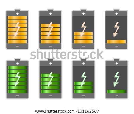 Concept-battery life - stock vector