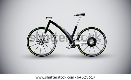 concept bike for urban transportation. product design - stock vector