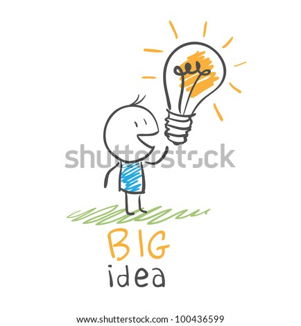 concept bulb drawing - stock vector